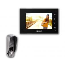 """Комплект 7"""" видеодомофон Kocom KCV-A374 Black"""