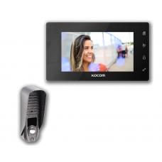 """Комплект 7"""" видеодомофон Kocom KCV-504 mirror"""