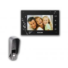 "Комплект 7"" видеодомофон Kocom KCV-A374 SD LE black"