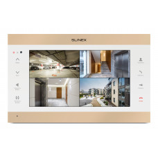 "10"" видеодомофон Slinex SL-10IPTHD White/Gold"