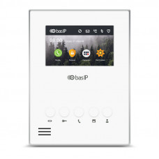 "4.3"" IP видеодомофон Bas-IP AU-04LA White/Black"
