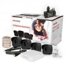 2.0Мп комплект видеонаблюдения Hikvision NK4E0-1T